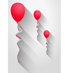 Balloons with long shadow vector