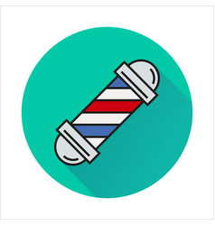 Barbershop element icon on circle vector