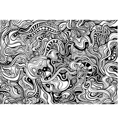 Black and white abstract decorative intricate vector