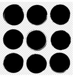 black blobs big set isolated transparent vector image
