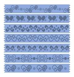 Bow Tape Pattern vector image