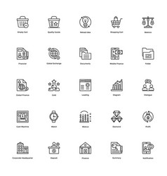 Business and finance line icon 15 vector