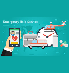 Business banner - emergency help service vector
