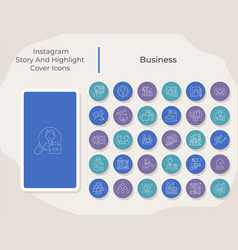 Business social media story and highlight cover vector