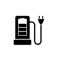 Charging station for electric car flat icon vector