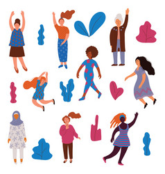 collection women different appearance vector image