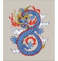 colorful chinese oriental dragon vector image