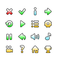 Colourful game icons vector