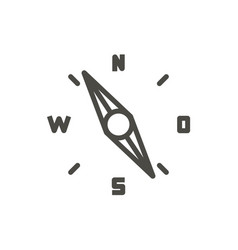 compass icon outline old navigation line vector image