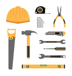 Construction working tools icon set vector