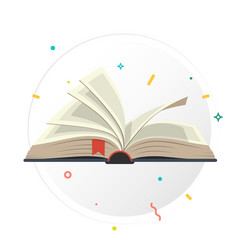 covered opened book with pages vector image