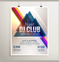 Creative club music party event flyer template vector
