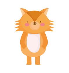 Cute fox wild animal cartoon character vector