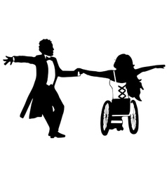 Dancing with Disabilities Strong woman Isolated vector