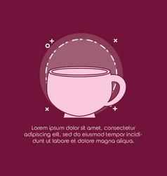 delicious coffee cup icon vector image