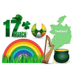 Design elements collection for st patricks day vector