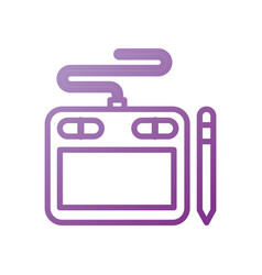 Designer tablet pen digital tool graphic vector
