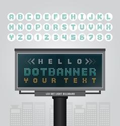 Digital led billboard signdot signboard modern vector
