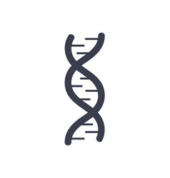 dna deoxyribonucleic acid chain logo design icon vector image