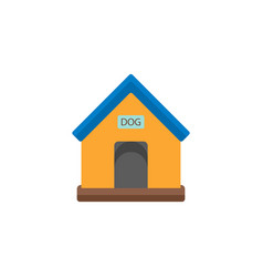 Doghouse flat icon vector