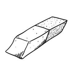Eraser doodle draw vector
