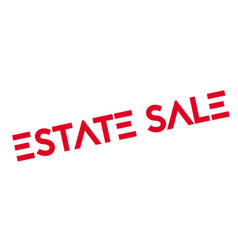 Estate sale rubber stamp vector