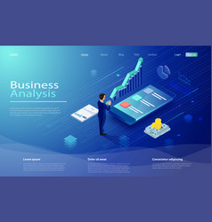 financial administration concept data analysis vector image
