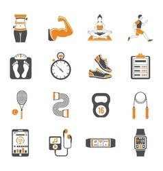 Fitness and Gym Icons Set vector