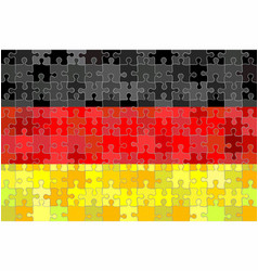 Germany flag made of puzzle background vector