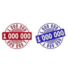 Grunge 1 000 000 scratched round stamp seals vector