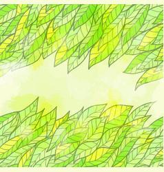 Hand drawn seamless green invitation card vector