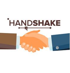 Handshake concept business people vector