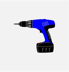 icon electric screwdriver repair vector image