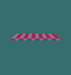 Icon in flat design roof awning vector