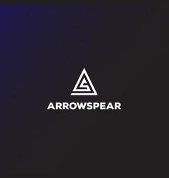 Initial letter a arrow arrowhead archer archery vector