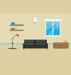 interior living room design vector image