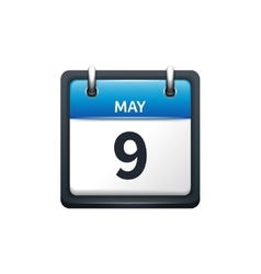 May 9 Calendar icon flat vector
