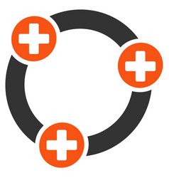 medical collaboration flat icon vector image