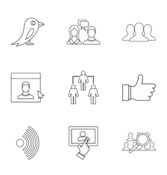 Message icons set outline style vector image vector image