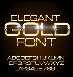 Metal elegant font vector