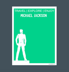 micheal jackson best netherlands monument vector image