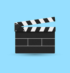 Movie cracker front view isolated on blue vector