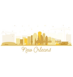 New orleans louisiana city skyline silhouette vector
