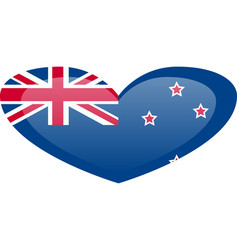 new zealand flag official colors and proportion vector image