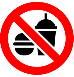 no food and drink forbidden sign vector image