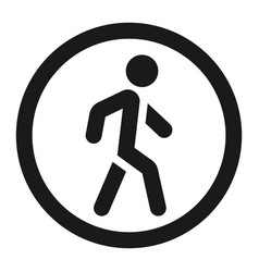No pedestrians sign line icon vector