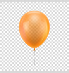 orange realistic balloon vector image