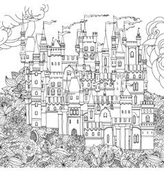 ornamental castle from a fairy tale vector image