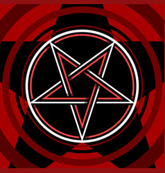 Pentagram isolated occultism symbol star in vector