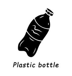 plastic bottle glyph icon vector image